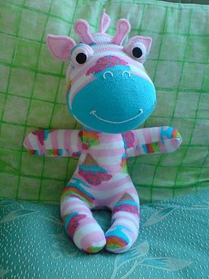 Sock Giraffe - cute, cute, cute