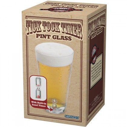Maxi Verre Sablier : Verre à bière d'un demi-litre intègre au fond un mini sablier sur Cadeaux et Anniversaire