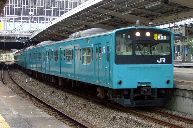 201系通勤形電車 日本の旅 鉄道見聞録 鉄道 鉄道 写真 電車