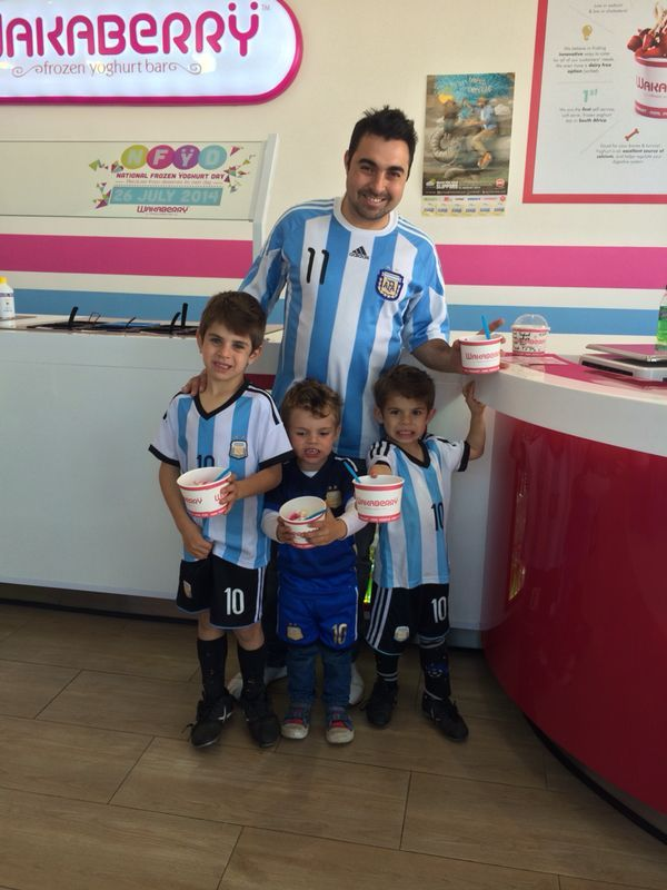 Some Argentina supporters in Wakaberry Hobart