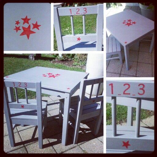 Table et chaises enfant