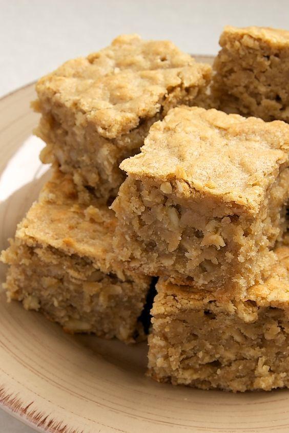 Peanut Butter Banana Bars by Bake or Break