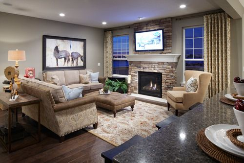 Doesnt this Mattamy living room feel just like Home Our – Model Home Living Rooms