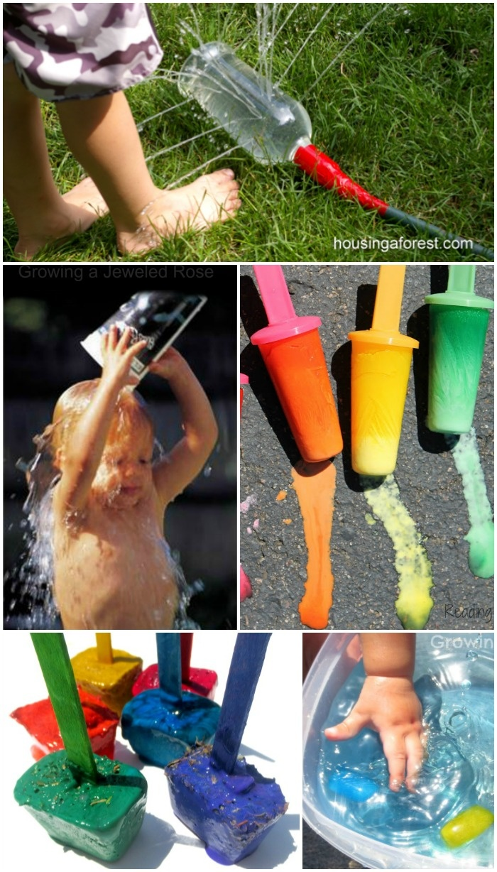 Lots of Summer FUN Activities to help kids beat the heat & stay Cool - ice play, water games, and more!