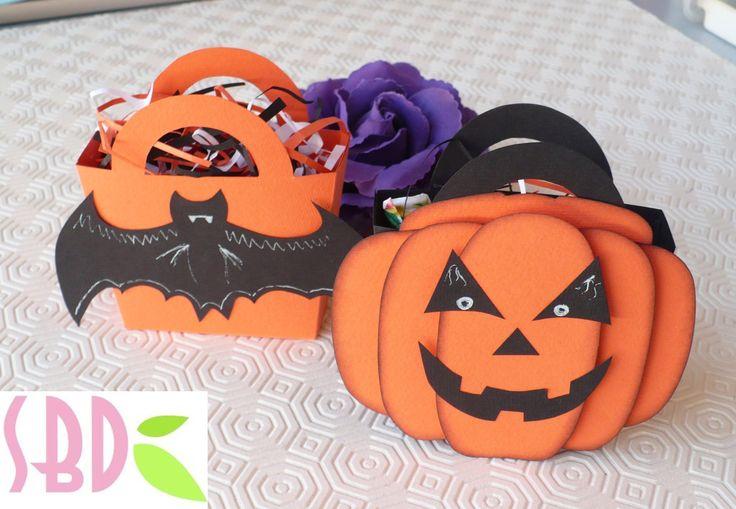 Tutorial scrapbooking: Scatolina porta dolcetti di Halloween - Sweets holders
