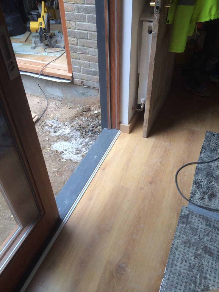 Floorboards and underfloor heating complete on ground floor