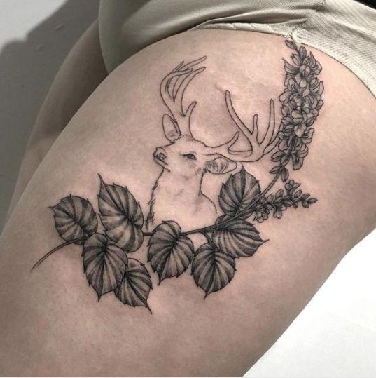 25 Beautiful Thigh Tattoos For Women Ideas On Pinterest -3420