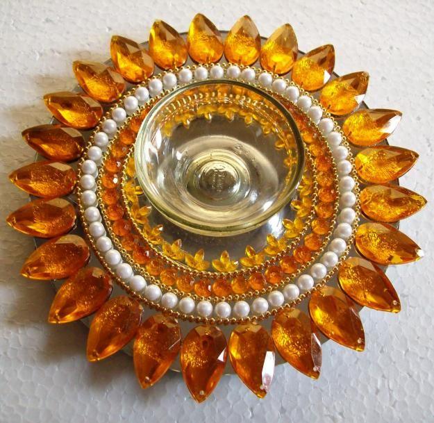 Shop Rangoli Mirror Floating Rangoli Sunflower Replica