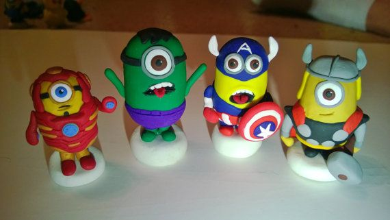 Hey, I found this really awesome Etsy listing at https://www.etsy.com/listing/174415425/polymer-clay-minion-avengers