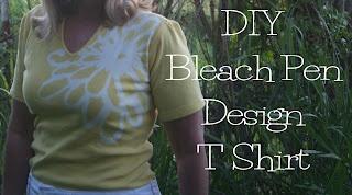DIY Bleach Pen T Shirt Refashion