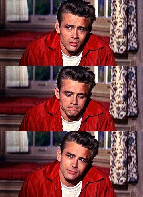 James Dean as Jim Stark in Rebel Without A Cause, 1955.