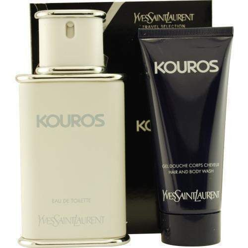 Kouros By Yves Saint Laurent Edt Spray 3.3 Oz & Free Shower Gel 3.3 Oz (travel Offer)