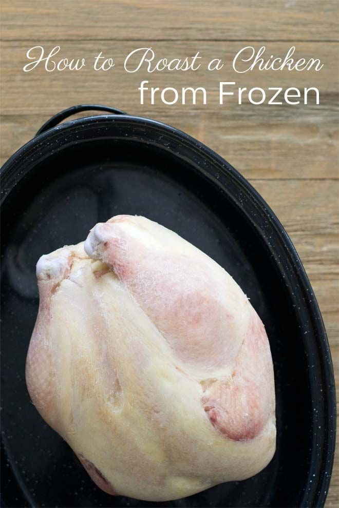 Learn how to roast a whole chicken from frozen. That's right. It is possible. Straight from the freezer, to the oven, to your mouth. No defrosting required!