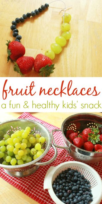 Fruit Necklaces - Fun Snacks for Kids  -Repinned by Totetude.com