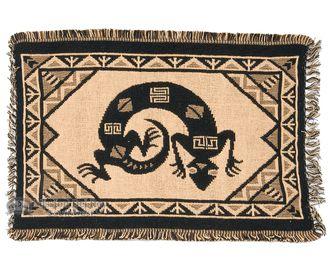 "Cotton Southwestern Placemat -13""""x19"""" -Desert Gecko"