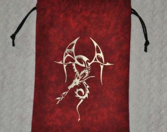 Dungeons and Dragons Asian game dice bag by sparrowhawk9 on Etsy