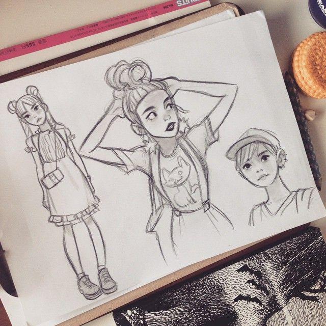 Anna Cattish —  #fruitsmagazin #sketching