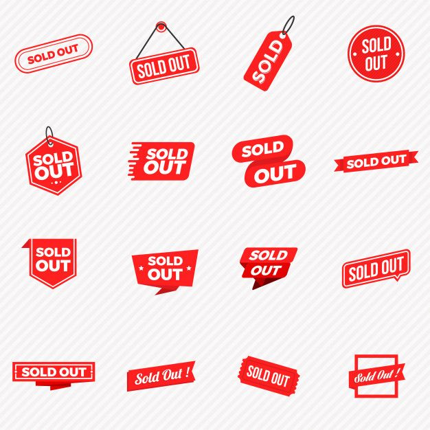 Collection Of Sold Out Banners Labels Stamps And Signs Labels Sold Out Sign Banner