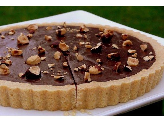 Nutella-Hazelnut Tart - I think I'm hungry now....