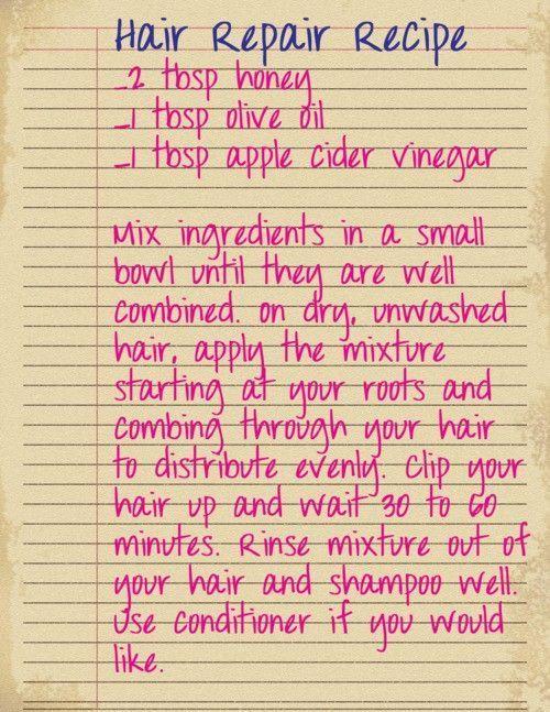Hair Repair Recipe