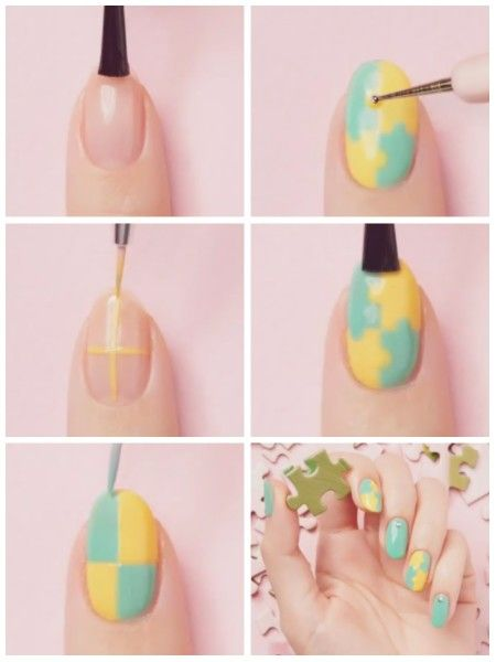 PUZZLE nail art. PLAY your colors