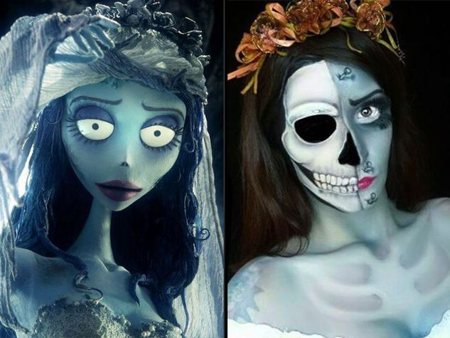 La sposa cadavere make up