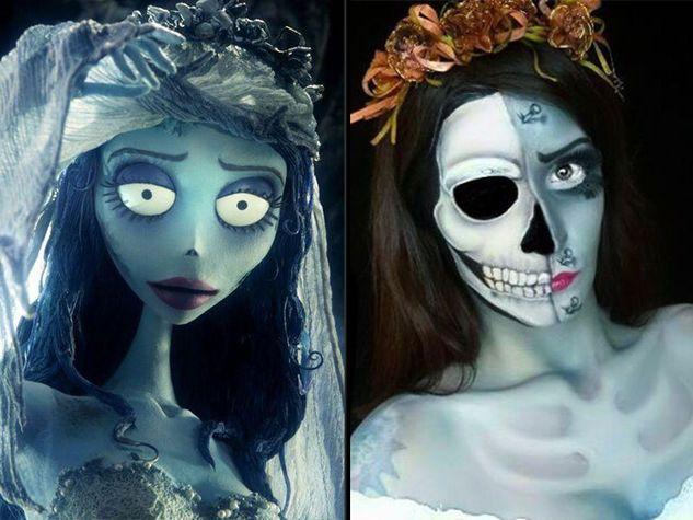 La sposa cadavere make up