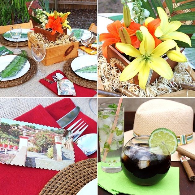 Havana Nights theme party ideas perfect for a Latin Thanksgiving