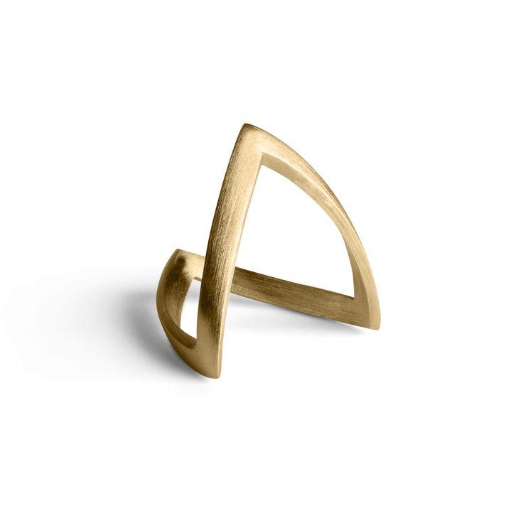 V- ring forgyldt sølv - Forgyldt Sølv - Ringe STR 54