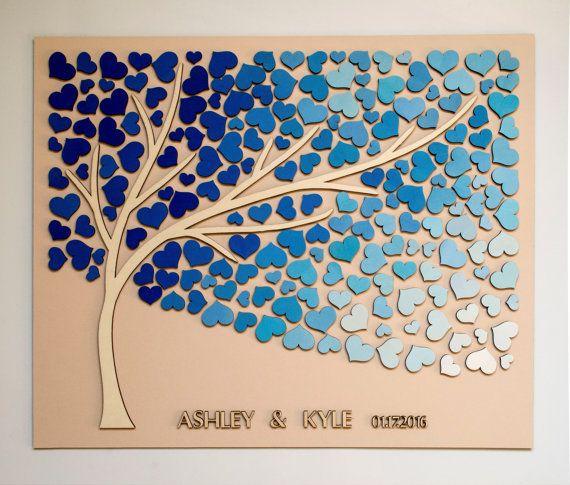 3D Wedding guest book alternative tree wood von HAPPYprojectSHOP