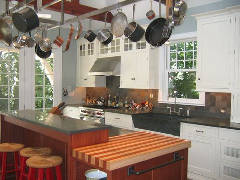 Maple With African Mahogany Striped Wood Countertop In Pa Https Www Glumber