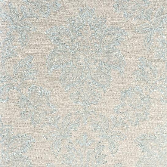 Обои текстильные цвет белый, голубой 1031 EN классический
