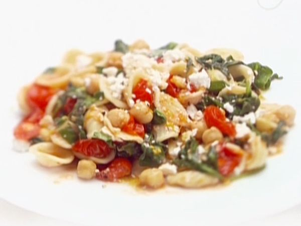 Orecchiette with Greens, Garbanzo Beans and Ricotta Salata recipe from ...