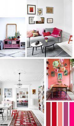 Colorboost: een frisse look met rood, koraal en roze - Roomed