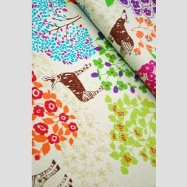 Bond - Woodland Animals Natural - Echino Fall 2011 fabric by Etsuko Furuya