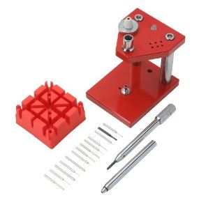 Optima Bracelet Link Punch for Removing Watch Bracelet Pins and Screws Optima. $39.95. Easily change watch bracelet pins from your home. Comes with 6 tips ranging from 0.4 to 2.0mm. Stand is made of sturdy anodized steel. Flat screwdriver for removing screw type spring bars. Save 49% Off!