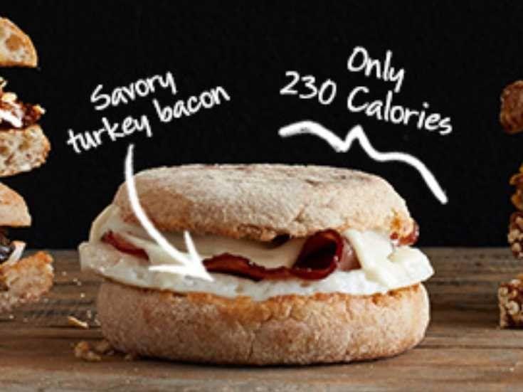 starbucks new reduced fat turkey bacon sandwich