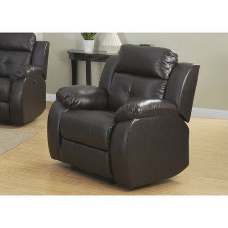 AC Pacific Troy Transitional Dark Power Reclining Chair