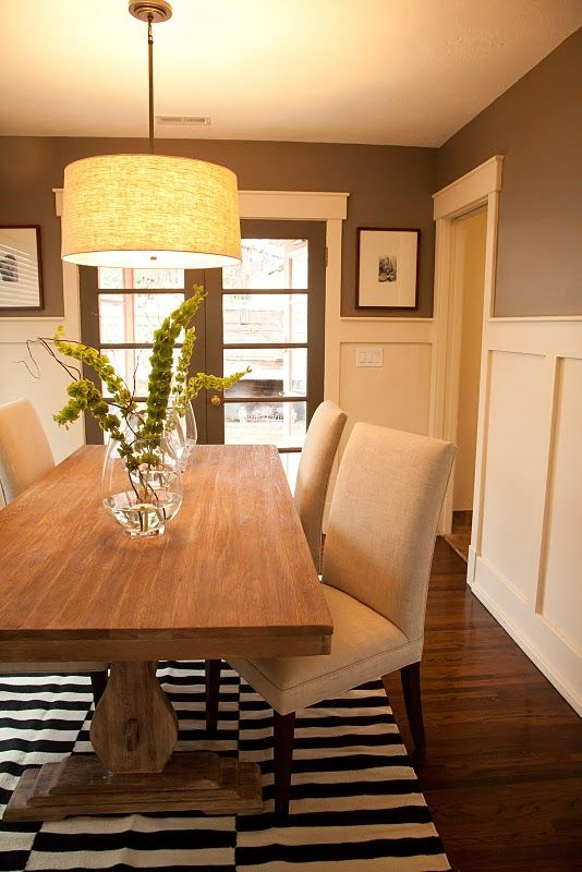 @ ann bottenhorn  very nice wall treatment, i like the height and detail.   dining room idea