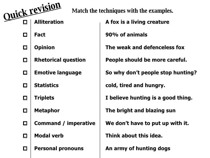 Persuasive Techniques And Aforest Persuasive Techniques