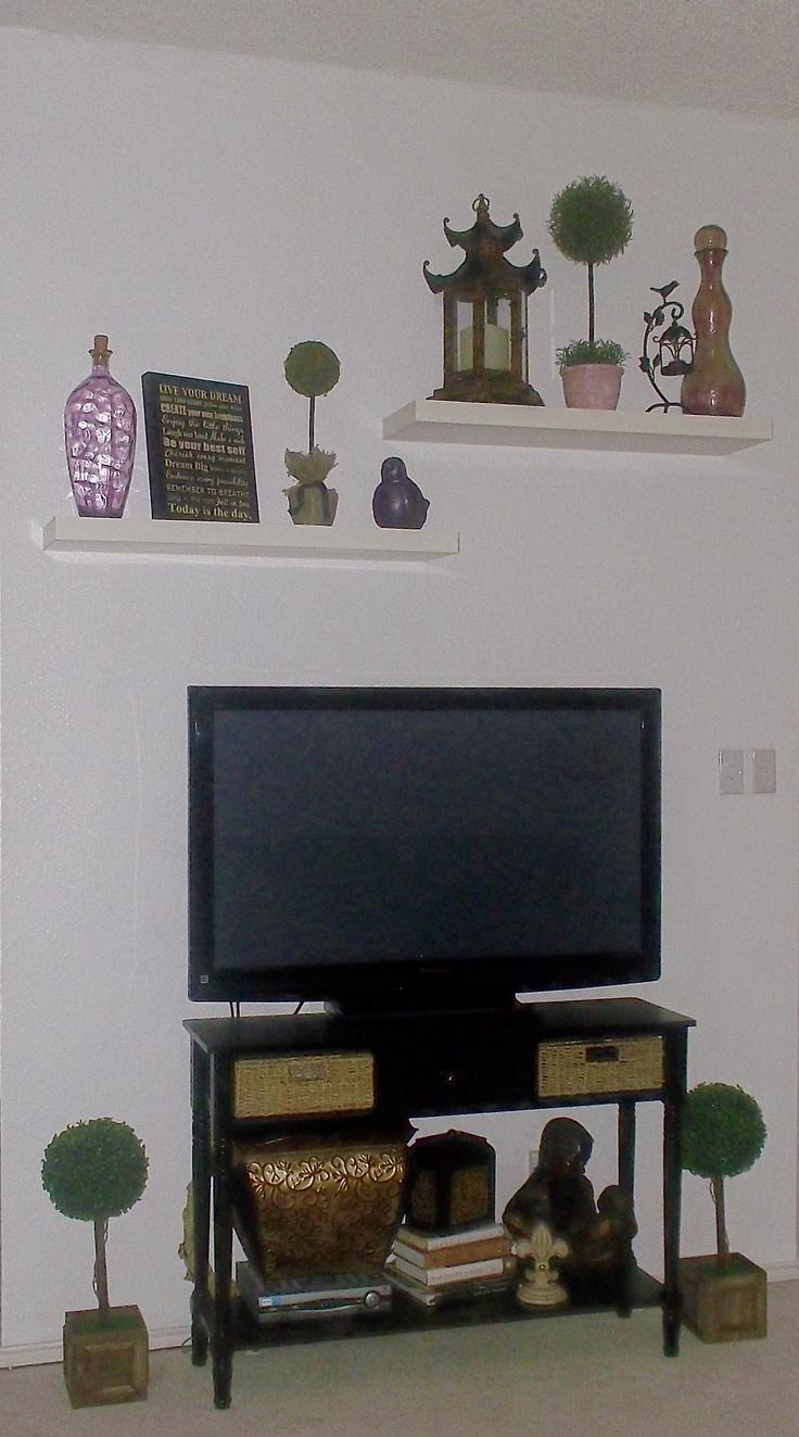 white floating shelves for the home pinterest white. Black Bedroom Furniture Sets. Home Design Ideas
