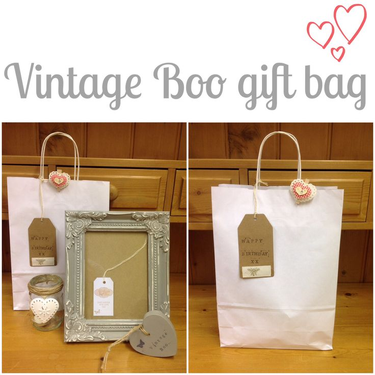 One of my gift bags, perfect for a hassle free present!
