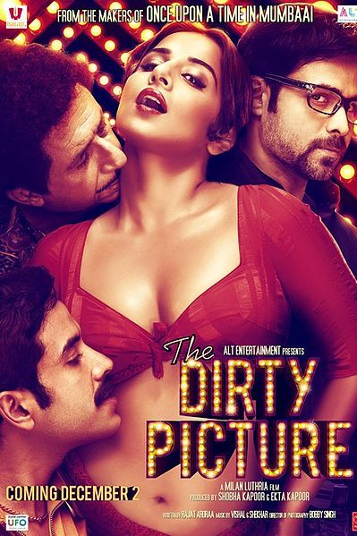 4.5★ The Dirty Picture. It's a great film, but its Vidya Balan's film. Everything else pales away and even after its forgotten her performance will still be remembered. Vidya inhabits Silk, playing her with confidence and style.  Verdict- Watch. Plot- The love story between an actress and a director. Inspired by the life of the late south Indian actress Silk Smitha. -IMDB Directed: Milan Luthria  Starring: Vidya Balan, Naseeruddin Shah, Tusshar Kapoor, Emraan Hashmi  #Bollywood