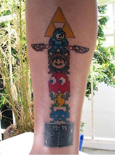 Gamer Tattoos | Video game tattoos