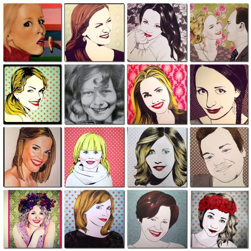 Ingerslille.blogg.no My sister is making these, beautiful portraits!