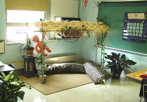 like the animal print pillows for the reading hut, but I'll stick with my canopy idea for the reading corner!