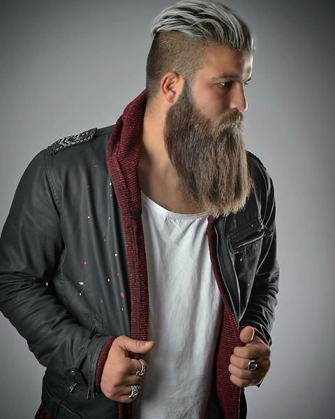 beard styles for men with long hair 32 best and beards images on 8867 | f25887186f1caad7a5fcfc3e8223966c