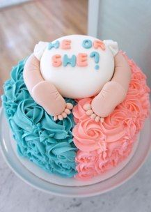 Baby Butt #Gender #Reveal #Cake by Half Baked Co.
