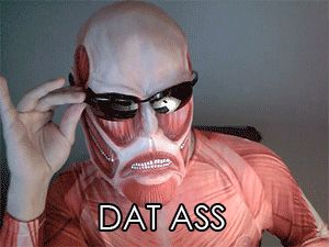 """""""what do you think of the female titan colossal-chan"""""""