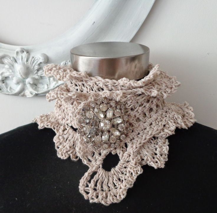 Victorian Lace Crochet Neck Warmer for Fall and Winter Designed by Jan Belgrave Can be worn with any pin you like or a button!!!!!! Pattern 10.00    or on sale for $60.00
